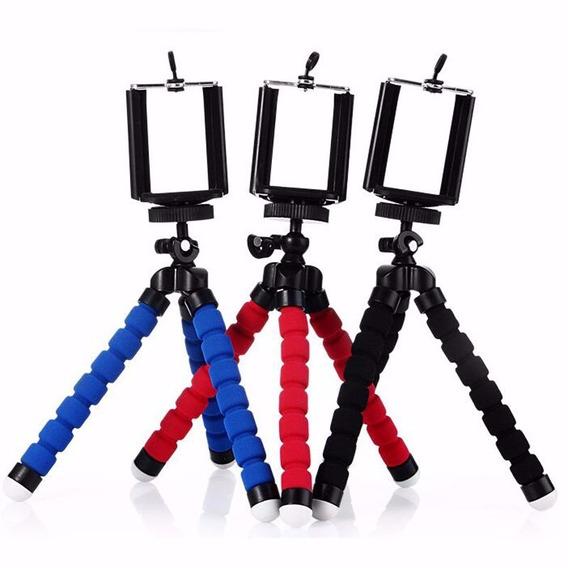 Mini Tripé Flexível Para Celulares E Gopro Câmeras Digitais