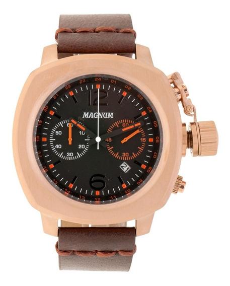 Relógio Magnum Masculino Couro Marrom Ma34129p Original