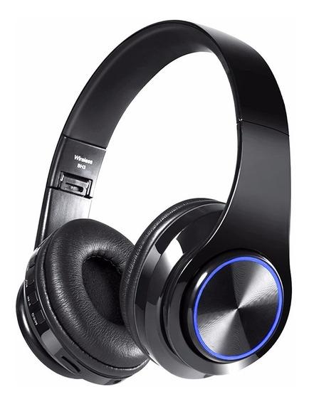 Cic Fone De Ouvido Bluetooth Microfone Sem Fio Dobrável Headset Sem Fio Com Led Cartão Tf