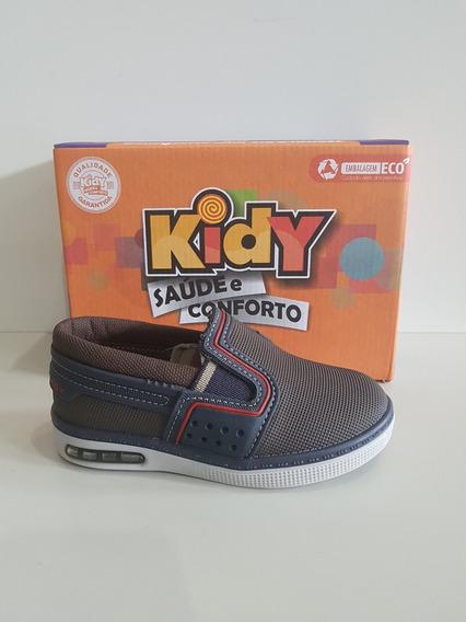 Sapatenis Kidy Flex 117-0161-1568 Marrom/marinho - 22 Ao 27