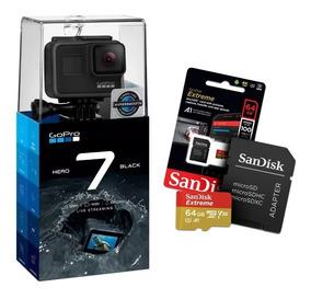Câmera Gopro Hero 7 Black 12mp 4k + Cartão Extreme 64gb