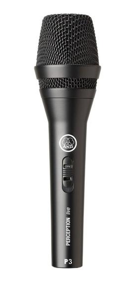 Microfone Dinâmico Akg P3s Perception P3 S Original P 3s