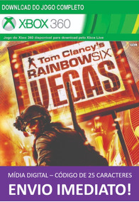 Xbox 360 Game Tom Clancy Rainbow Six: Vegas Cod. 25 Dígitos