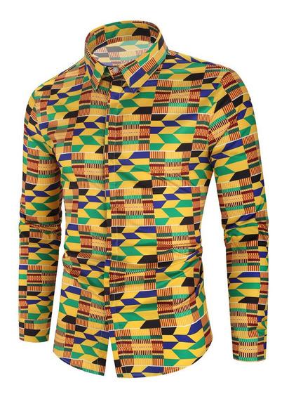 Camisa Algodón Ppoliéster Hombre Manga Larga Invierno Prim