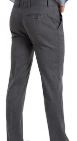 Pantalones De Adolescente Sarga/ Alpaca Color Gris/ Azul