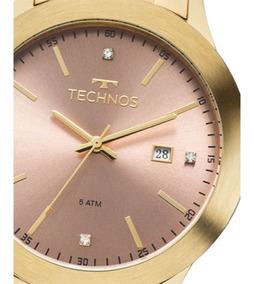 Relogio Technos Feminino Dourado - 2115mkr/4t