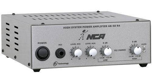 Amplificador Nca + 2 Caixas Som Ambiente Ab50 R4 50w