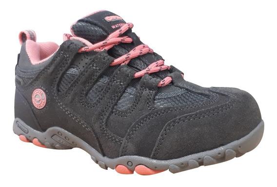 Zapatillas Hi-tec Quadra Waterproof Impermeable Niña