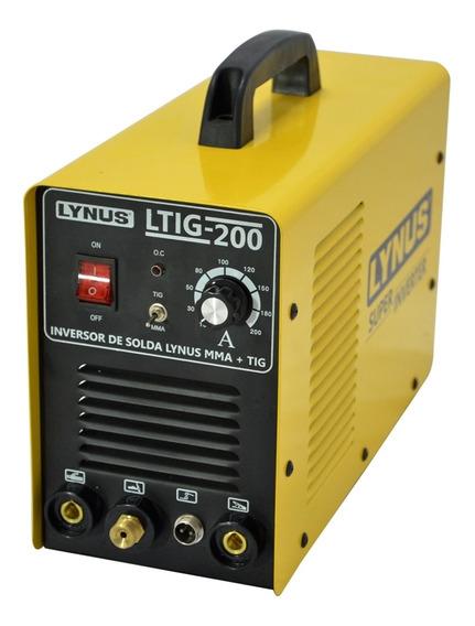 Máquina Inversora De Solda Mma Tig 220a Ltig-200 Lynus 220v