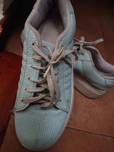 Zapatillas Con Plataforma Celeste Muy Comodas