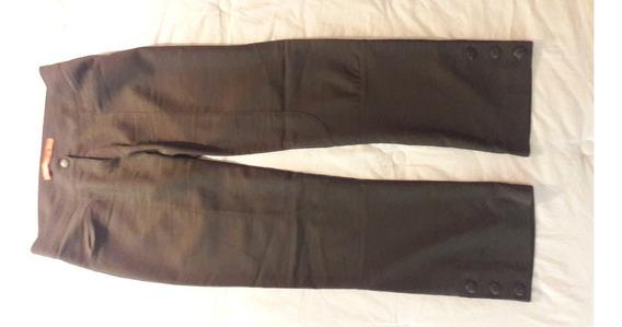 Pantalon Materia Talle S Color Verde Oscuro Elastizados