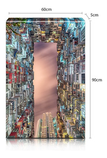 Lienzo Sobre Bastidor Grandeza De Rascacielos 60x90cm