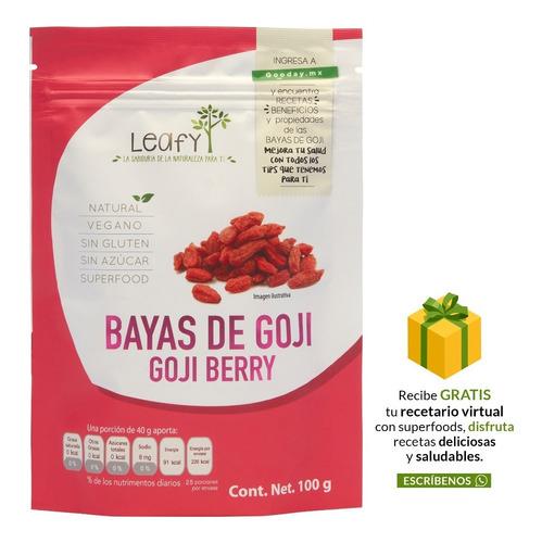 Imagen 1 de 6 de Gojiberries Bayas De Goji Orgánicas Leafy 100g