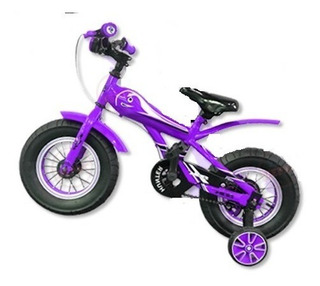 Bicicleta Nena Sbk Fat Rodado 12 Violeta - Racer Bikes