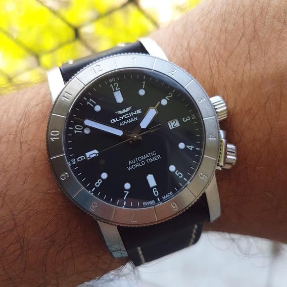 Relógio Glycine Airman Gl0063 Novo P. Entrega E Completo