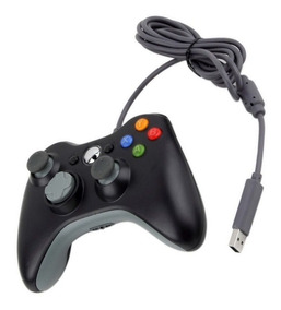 Controle Computador Notebook Xbox 360 Usb Cabo Com 2 Metros