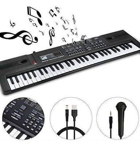 Wosto 61 Teclado De Piano Teclado Teclado Musical Electroni