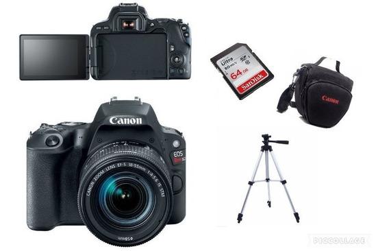 Câmera Canon Sl2+18-55 Is+bolsa+tripé 64gb