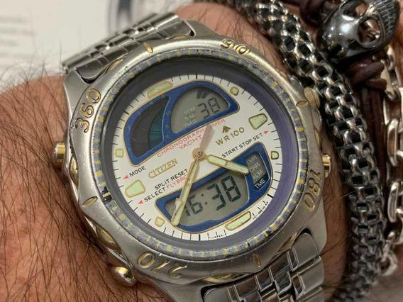Citizen Yacht Chronograph Timer C211 Wr100m Japan