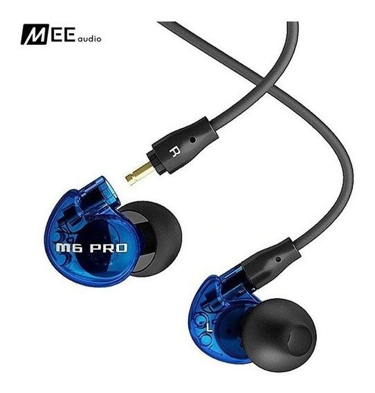 Fone In-ear Mee Audio M6 Pro Retorno Blue Azul
