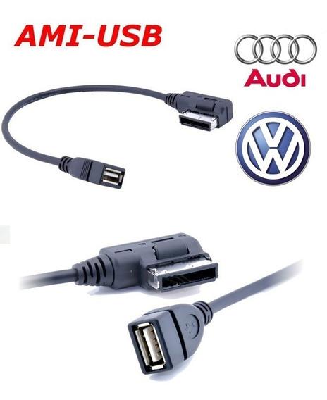 Cabo Ami Usb Adaptador Pen Drive Vw Jetta Golf Varios Audi