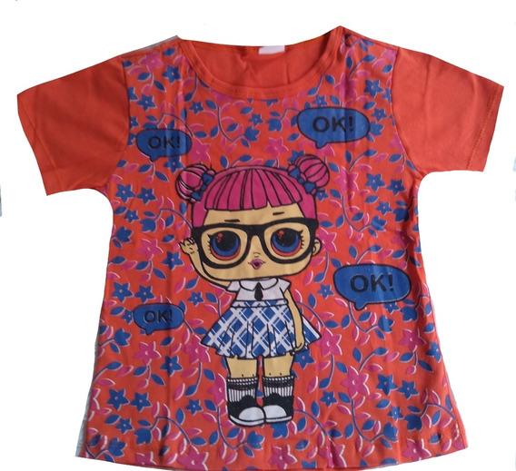 Kit Atacado C/10 Camiseta Babylook Infantil Personagem