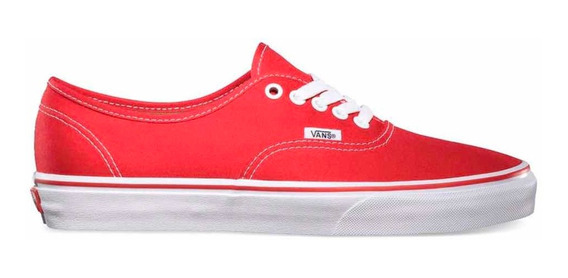 Zapatillas Vans Mod Authentic Roja Traídas De Usa