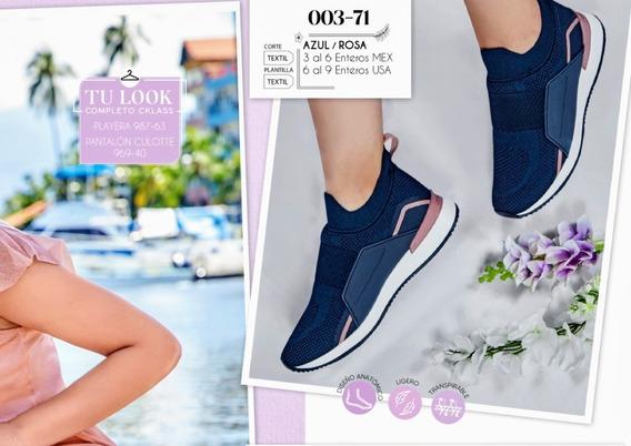 Tenis Azul/rosa 003-71 Cklass Primavera-verano 2020