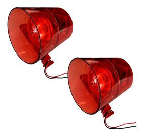 2 X Sirene Audio Visual 12v 24v P/ Alarme Incendio 120db