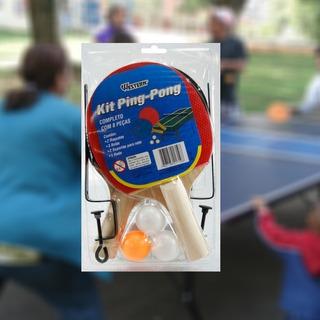 Casa Kit Ping Pong Tenis Mesa 2 Raquetes 3 Bolinhas 1 Rede