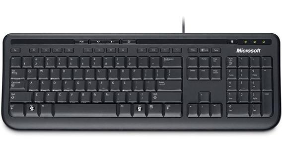 Teclado C/ Fio ( Wired ) Preto Usb 600 - Microsoft 5 Unidade
