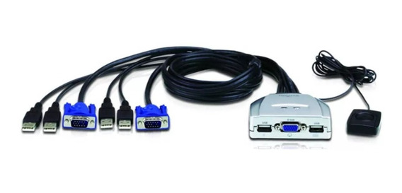 Kvm Switch Nisuta 2 Puertos Usb C/cables Nskvmuv2