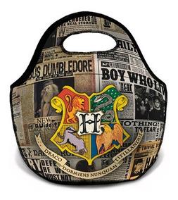 Lancheira Harry Potter Brasão Quatro Casas Pronta Entrega