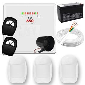 Kit Sistema De Alarme Residencial Jfl Completo - Só Instalar