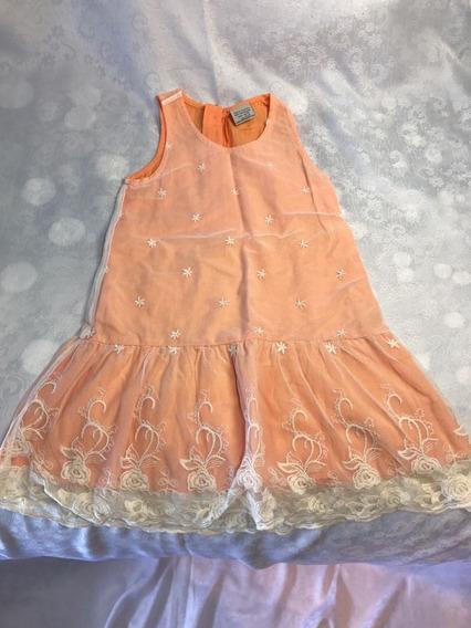Vestido Fiesta Zara Encaje T4-5
