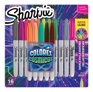 Marcadores Sharpie Fino X16 Colores Cósmicos