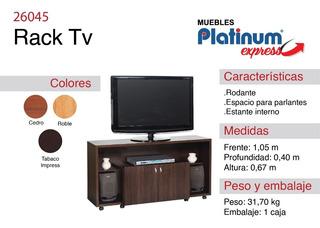 Rack Tv Platinum - Envio Sin Cargo Al Gran Mza