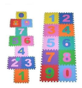 Tapete Eva Infantil 10 Placa Numero Amarelinha Tatameatoxico