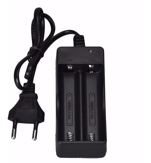 Carregador Duplo Bateria 18650 De Lanterna Recarregável Zj30