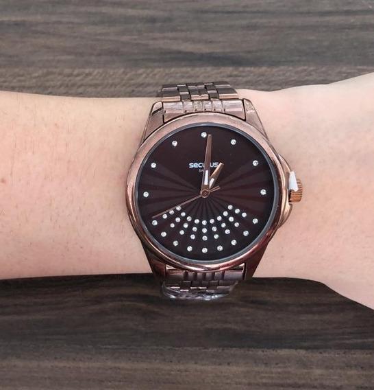 Relógios Seculus Feminino 20599lpsv Marrom