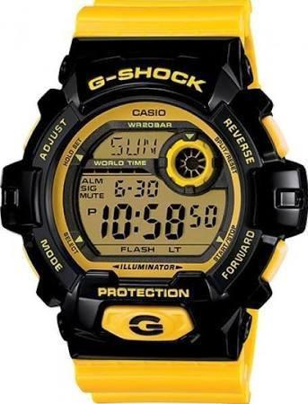 Reloj Casio G-shock Modelo G-8900 Negro Con Amarillo