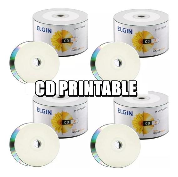 100 Cd-r Elgin Printable 700mb 80 Minutos 52x Cd Virgem