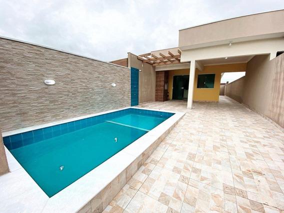 Casa Nova Em Peruíbe Com Piscina. Excelente Localiação