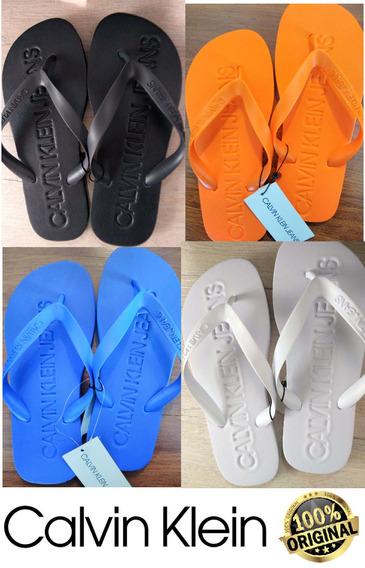Chinelo Calvin Klein (cores) Baixo Relevo 100% Original C/nf