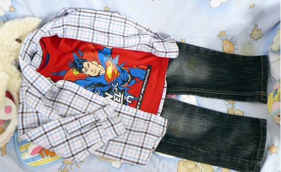 Lote Camisa Remera Pantalon 3-4 Años Importado H&m Marvel
