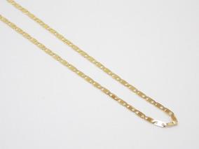 Cordao Corrente Piastrine Masculina 60cm Banhada A Ouro 18k