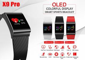 Pulseira Inteligente X9 Pro Oled Pressão Arterial Cardíaco