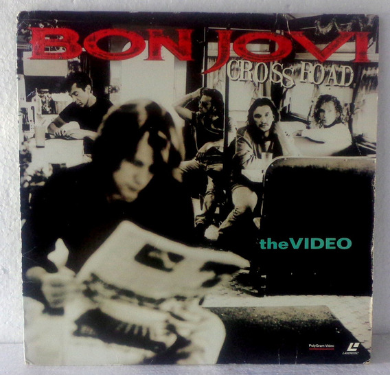 Bon Jovi Cross Road The Video Laserdisc Original Pronta Entr