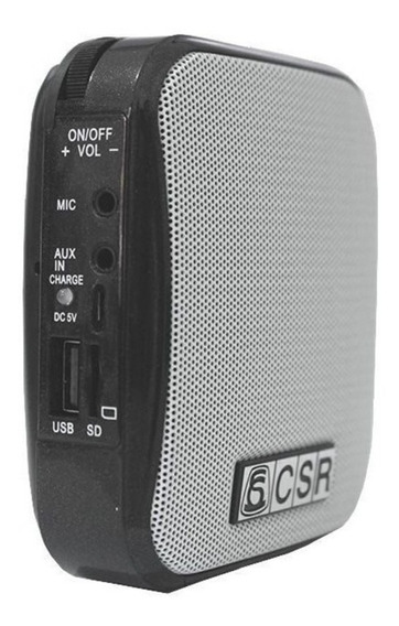 Microfone Amplificador De Voz Portátil Com Bluetooth