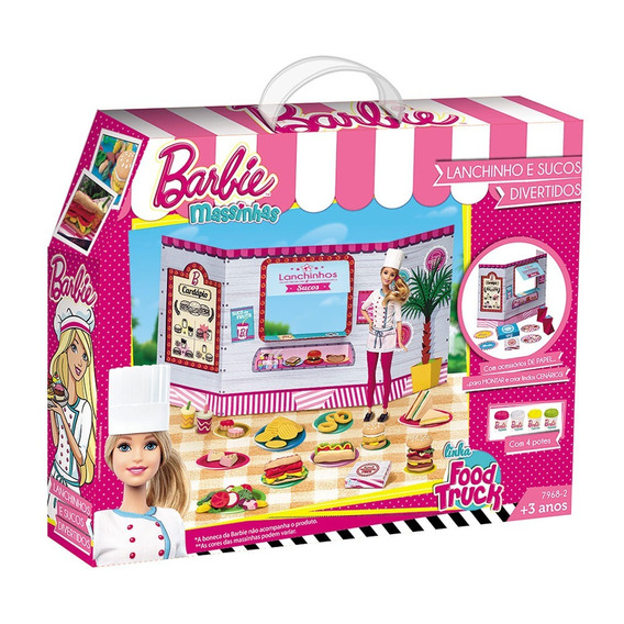 Barbie Massinha Food Truck Lanchinhos E Sucos - Fun